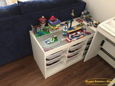 レゴテーブル移動して片付け/Putting away the Lego table