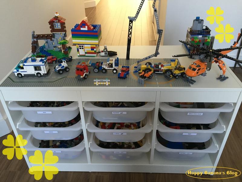 収納付レゴテーブル/Lego storage table
