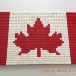 カナダデー前夜に・・家族でレゴのカナダ国旗を作ってみた