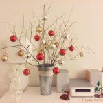 【節約インテリア】木の枝でクリスマスツリー第二弾。大きめの枝でゴージャスに♪
