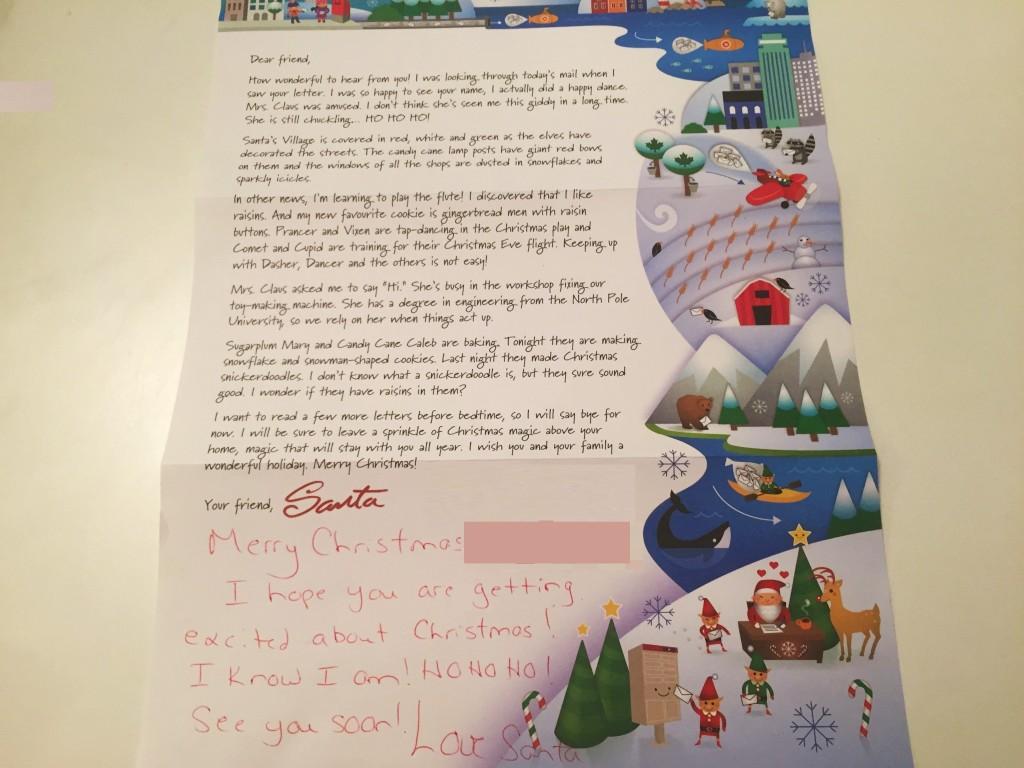 カナダのサンタさんから、お手紙が届いたよ!手紙の内容をご紹介します♪