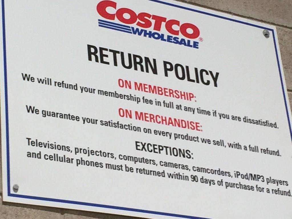 数年前に購入した商品も全額払戻!?コストコの最強返品制度。壊れやすい物はコストコで買うに限る!