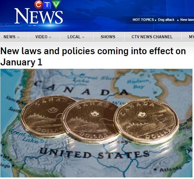 所得税率も、交通違反ルールも!2016年はカナダのここが変わる。タクシードライバーはオシャレになるよw
