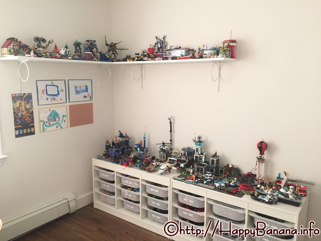 レゴ作品の飾り方どうする?IKEAウォールシェルフで飾り棚を作りました。