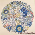 大人の塗り絵カレンダー『ひみつの花園』4月は「色限定」と「塗り残し」手法で挑む!