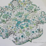 大人の塗り絵『ひみつの花園』7月は48色入り色鉛筆を大活用!