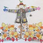 大人の塗り絵『ひみつの花園』10月 カカシを秋色に。