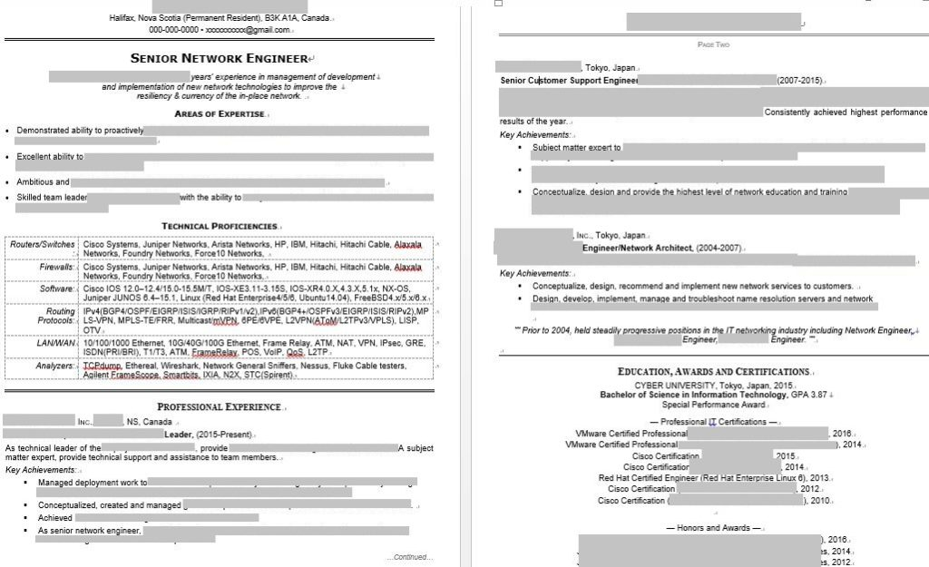 modified-resume