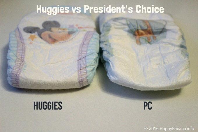 Huggiesと比べて歴然!President's choiceのオムツがお勧めできない理由2つ