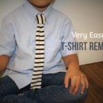 リメイク「Tシャツヤーン」応用術!超簡単、裁縫不要の子供用ネクタイ