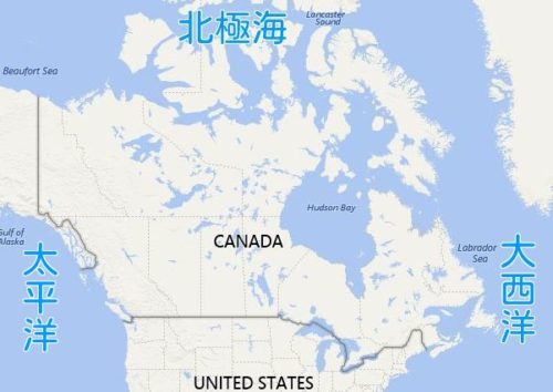 canada-map-three-oceans