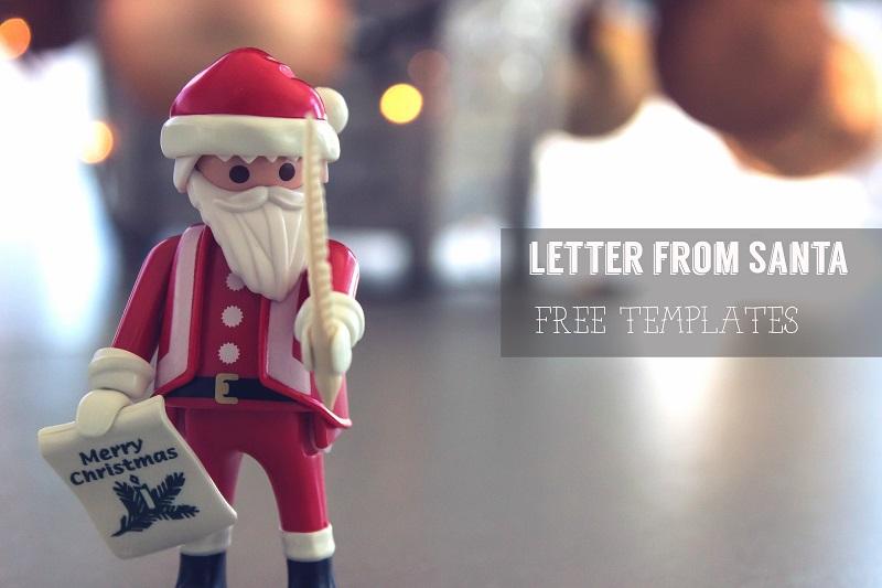 サンタになりきって英語の手紙を用意しよう印刷できるテンプレート