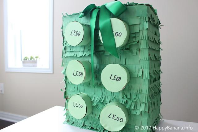 海外の誕生日会で大人気!ピニャータはダンボールで簡単に作れるよ!【レゴバージョンの作り方】