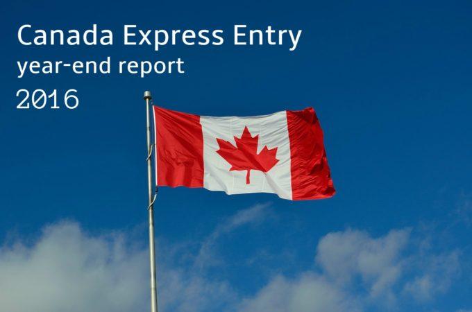 2016カナダ移民Express Entryレポート|選抜基準スコアや平均審査期間は?