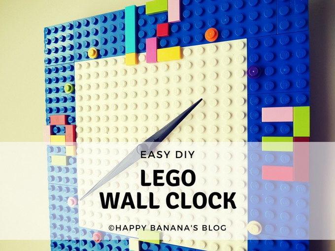 時計の簡単リメイク!レゴで作れば子供部屋にピッタリの可愛さ♡