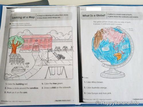 カナダ小学校1年生の社会プリント教材