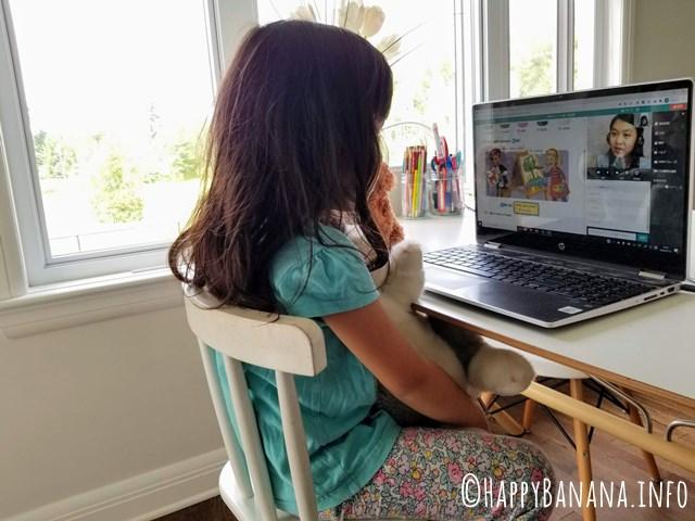 オンライン英会話ネイティブキャンプの子供向けレッスン風景
