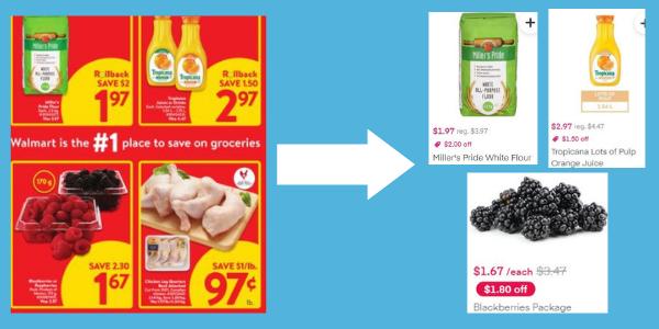 Instacart上のWalmartの今週の広告商品