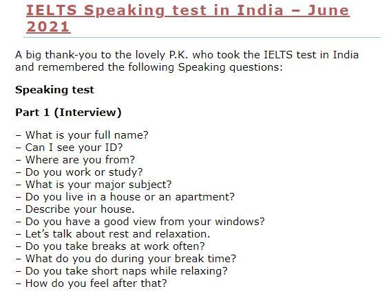 IELTS-Blog.comで紹介されているIELTS最新出題問題